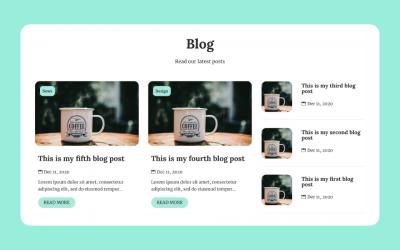 Divi Blog section & Grid