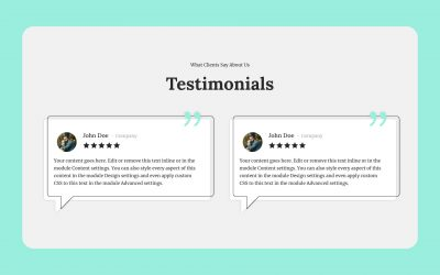 Styled Testimonials Section