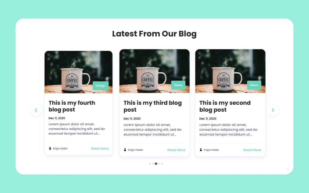 Divi Blog Carousel
