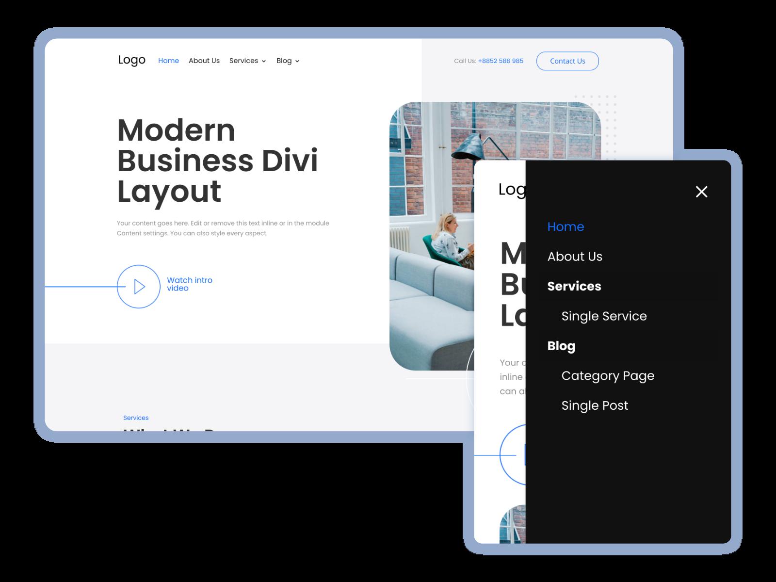 Premium Layout: Modern Business for Divi